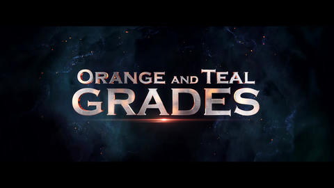 Orange and Teal Grades Presets