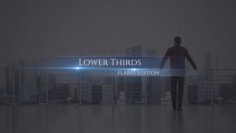 Lower Thirds Flares Motion Graphics Template