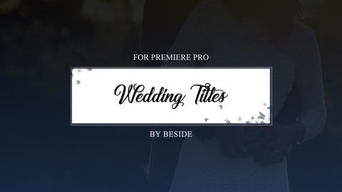 Wedding Titles 02 Premiere Pro Template