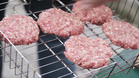 Burger patties grill Live Action