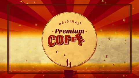 original premium coffee collection design written with retro vintage typography and small warm cup Animation