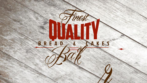 finest quality bread and cakes bakery design with words written in various types of vintage and Animation