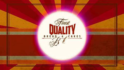 classic cafe and bakery design selling finest value food and cakes with italic printing written in Animation