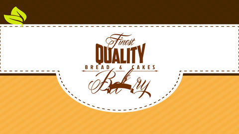 cake and bread bakery package design divided in three different layers with guiding dotted lines for Animation