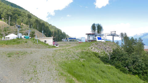 The station is open cableway. Rosa Khutor, Sochi, Russia Footage