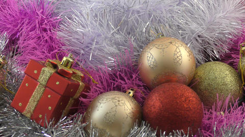 Christmas decorations and Christmas gifts Footage