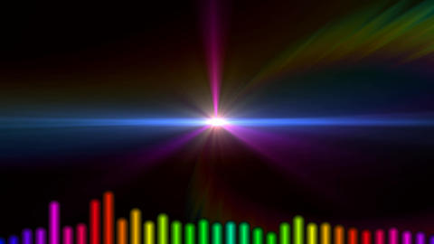Audio waveform concept with beautiful lights background (30 seconds) Animation