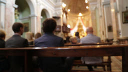 In italy the altar and people in wedding cerimony 04 Footage