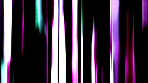 Flowing Down Liquid Fashion Purple Lines On Black Background Animation