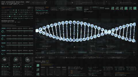 Holographic Display of Advance DNA Sequence Analysis Animation