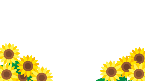 Animation of cute sunflower flowers swaying Animation
