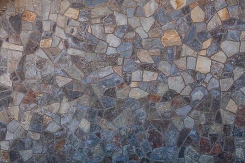 Mosaic colorful stone floor texture Photo