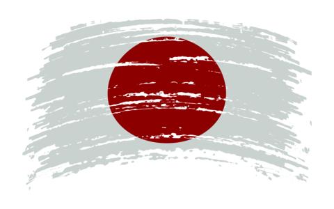 Japan flag in grunge brush stroke, vector Vector