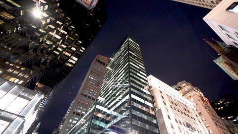 NEW YORK CITY - DECEMBER 2018: Street view of Manhattan skyscrapers, New York Live Action