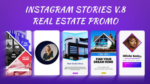 Instagram Stories v 8 - Real Estate Promo After Effectsテンプレート