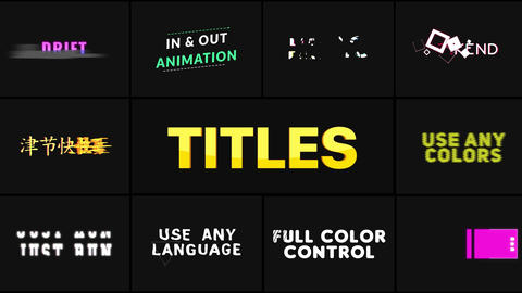 Unique Titles After Effects Template