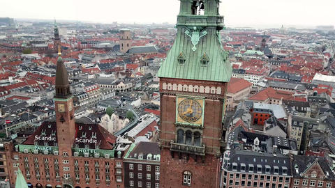 Copenhagen Town Hall Clocktower Live Action