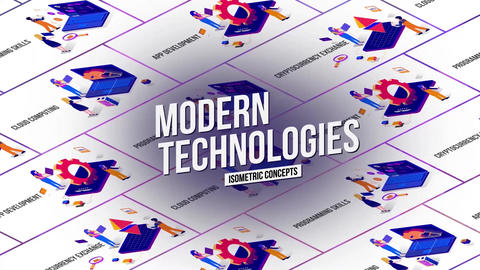 Modern tecnology isometric concept After Effects Template