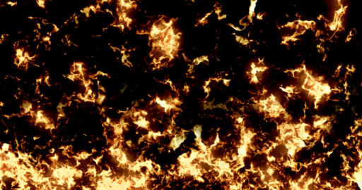 real, fire flames pattern texture burn on black background, dangerous Live Action