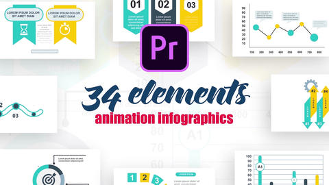 Infographics MOGRT vol.16 Motion Graphics Template