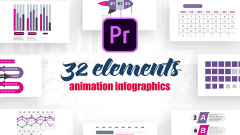 Infographics MOGRT vol.14 Motion Graphics Template