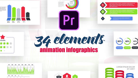 Infographics MOGRT vol.13 Motion Graphics Template