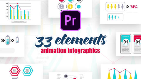Infographics MOGRT vol.12 Motion Graphics Template