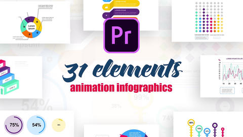 Infographics MOGRT vol.10 Motion Graphics Template