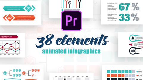 Infographics MOGRT vol.24 Motion Graphics Template
