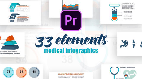 Infographics MOGRT vol.22 Plantillas de Motion Graphics
