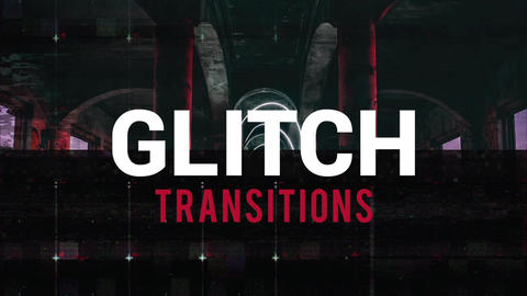 Glitch Transitions Premiere Proテンプレート