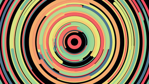Colorful circular motion background.Round color art texture Animation