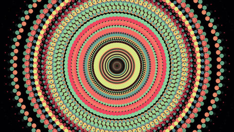 Abstract kaleidoscope decoration motion design.Circle pattern element.Beautiful motion Animation