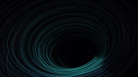 Abstract blue Swirl technology line Animation