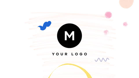 Hand Drawn Brush Minimal Logo After Effects Template