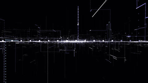 Abstract technology background.Hi-Tech network concept, Stock Animation