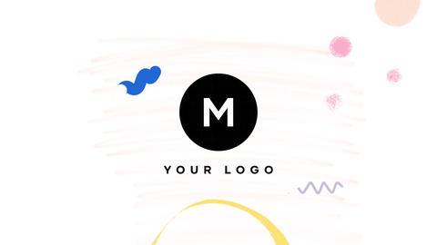 Hand Drawn Brush Minimal Logo Premiere Pro Template