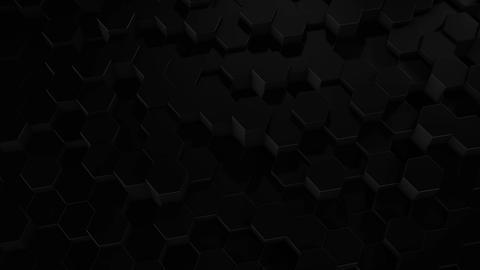 Hexagonal Geometric Black Surface Animation