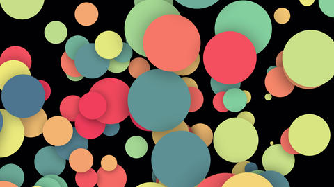 Colorful circles pattern motion background.Abstract color shape design.Modern particles round Videos animados