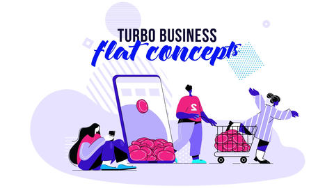 Turbo Business - Flat Concept After Effects Template