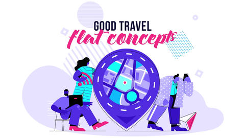 Good Travel - Flat Concept After Effects Template