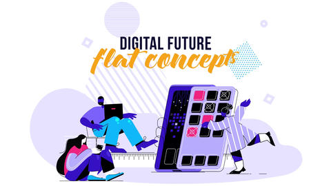 Digital Future- Flat Concept After Effects Template