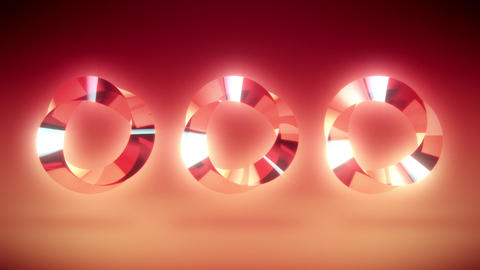 Abstract Colorful Gem Stone Rings VJ Loop Background Animation