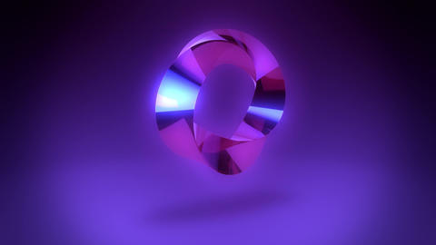 Abstract Purple Gem Stone Ring VJ Loop Background Animation