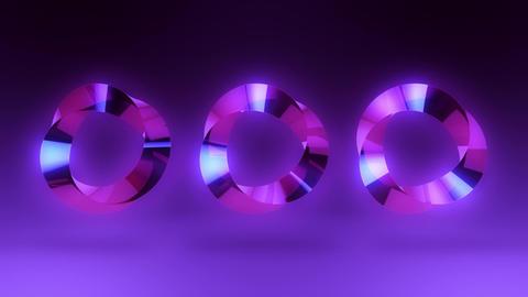 Abstract Purple Gem Stone Rings VJ Loop Background Animation