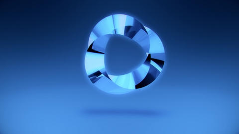 Abstract Blue Gem Stone Ring VJ Loop Background Animation
