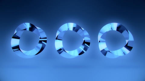 Abstract Blue Gem Stone Rings VJ Loop Background Animation
