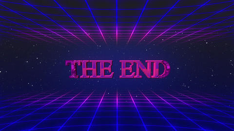 Retro game THE END Animation