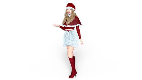 UHD-Christmas Girl Animation