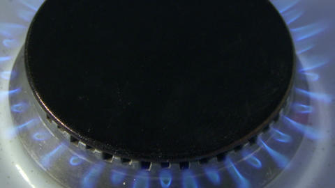 Gas flames in the stove Footage